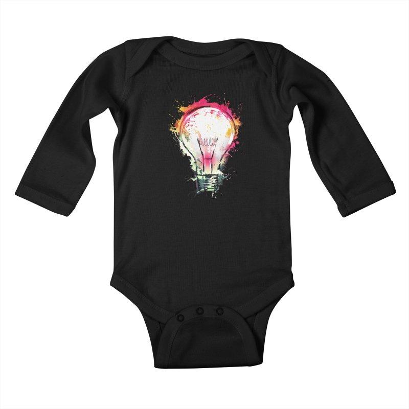 Splash Ideas Kids Baby Longsleeve Bodysuit by alnavasord's Artist Shop
