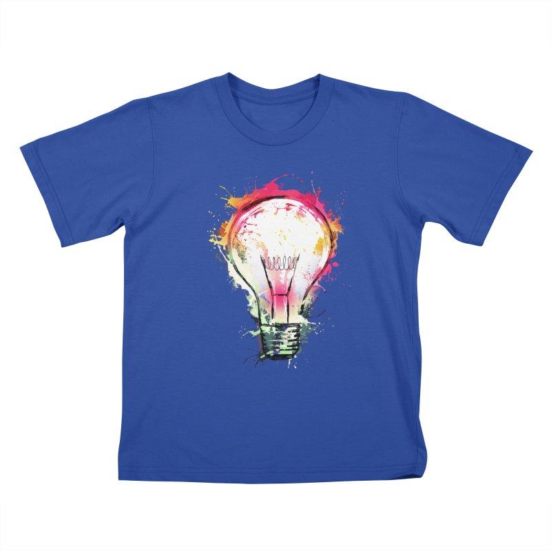 Splash Ideas Kids T-Shirt by alnavasord's Artist Shop