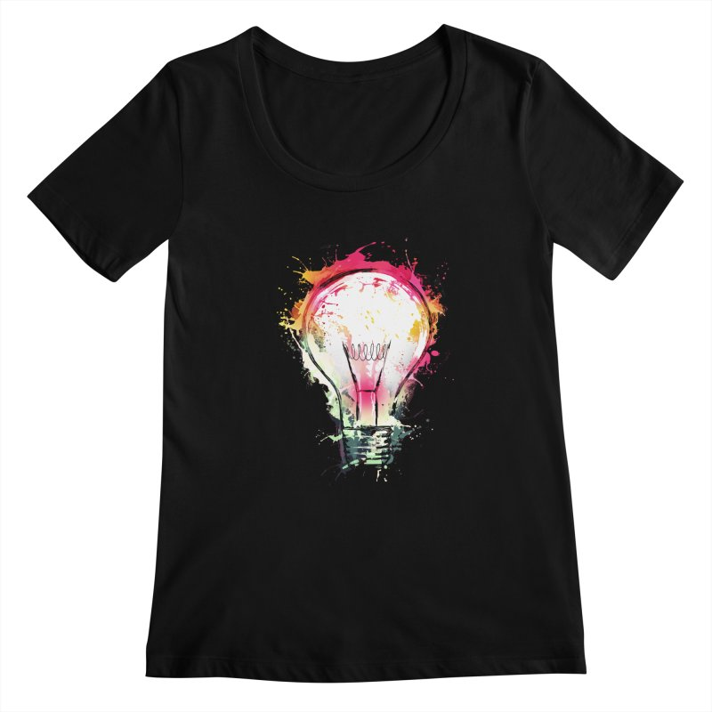 Splash Ideas Women's Scoopneck by alnavasord's Artist Shop