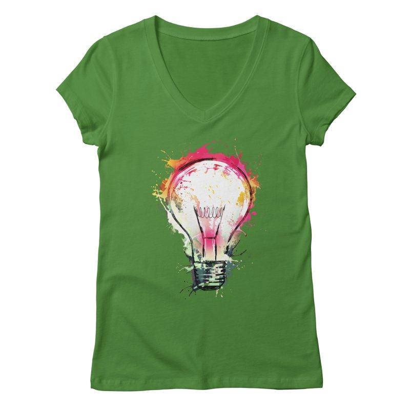 Splash Ideas Women's V-Neck by alnavasord's Artist Shop