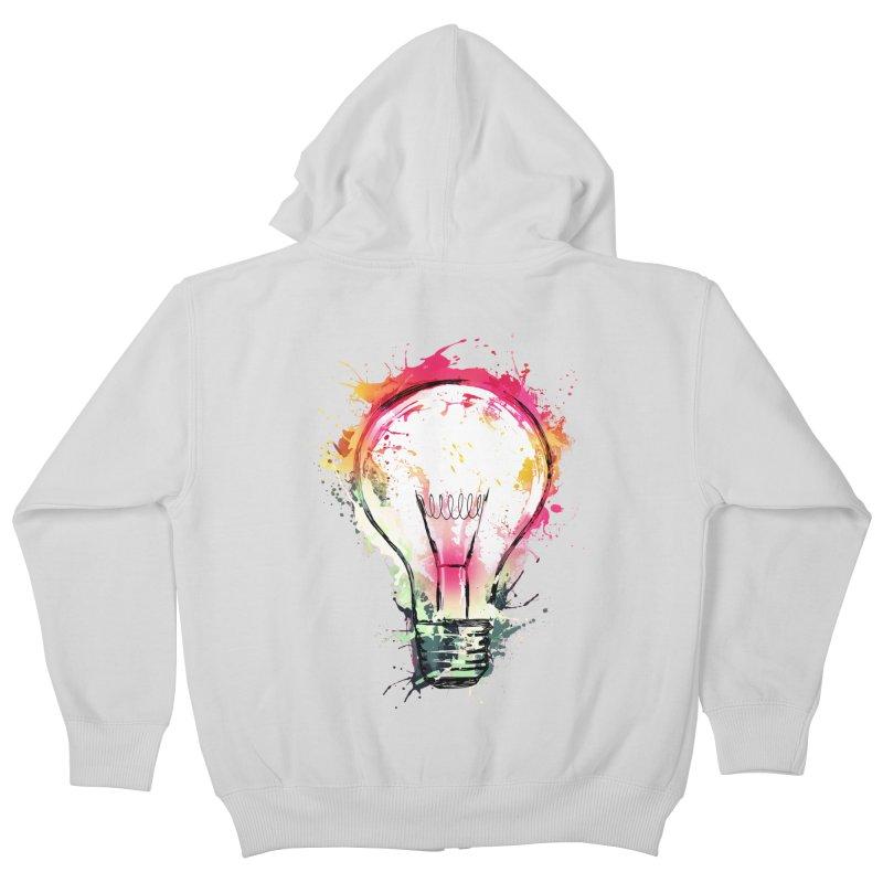 Splash Ideas Kids Zip-Up Hoody by alnavasord's Artist Shop