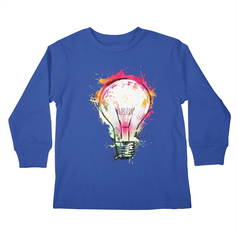 Splash Ideas Kids Longsleeve T-Shirt by alnavasord's Artist Shop