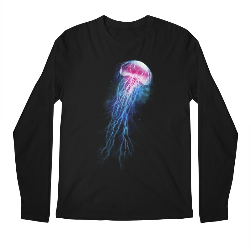 jellyfish storm Men's Longsleeve T-Shirt by alnavasord's Artist Shop