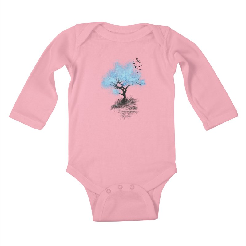 leaving home Kids Baby Longsleeve Bodysuit by alnavasord's Artist Shop