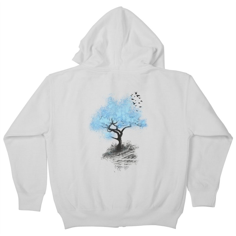 leaving home Kids Zip-Up Hoody by alnavasord's Artist Shop