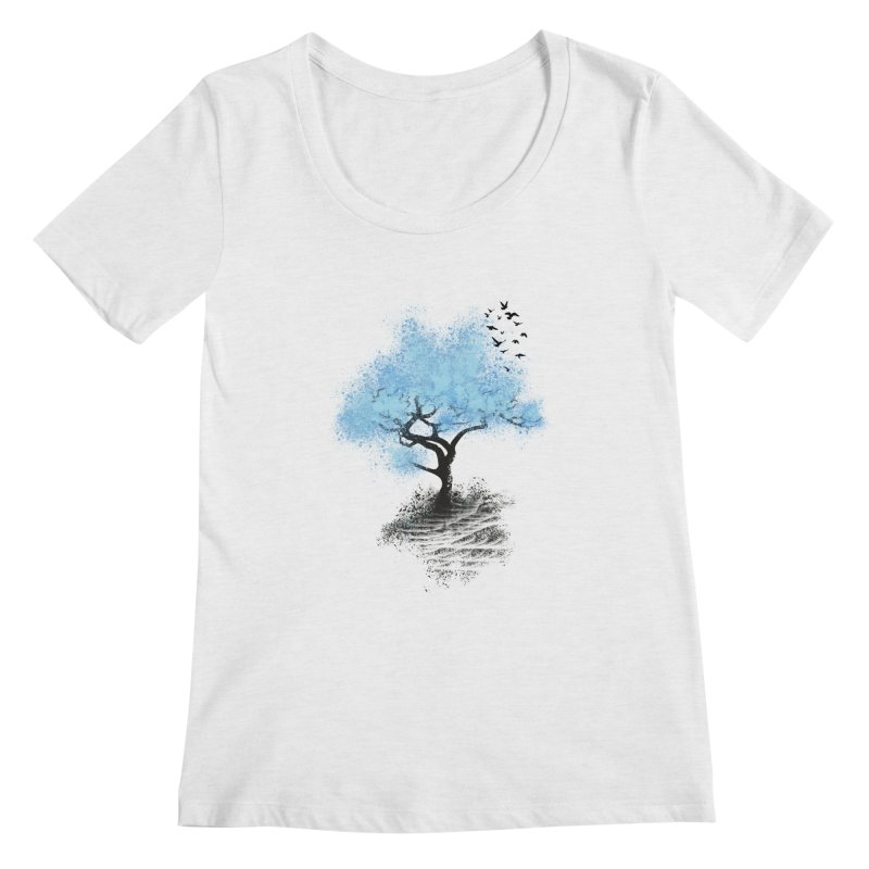 leaving home Women's Scoopneck by alnavasord's Artist Shop