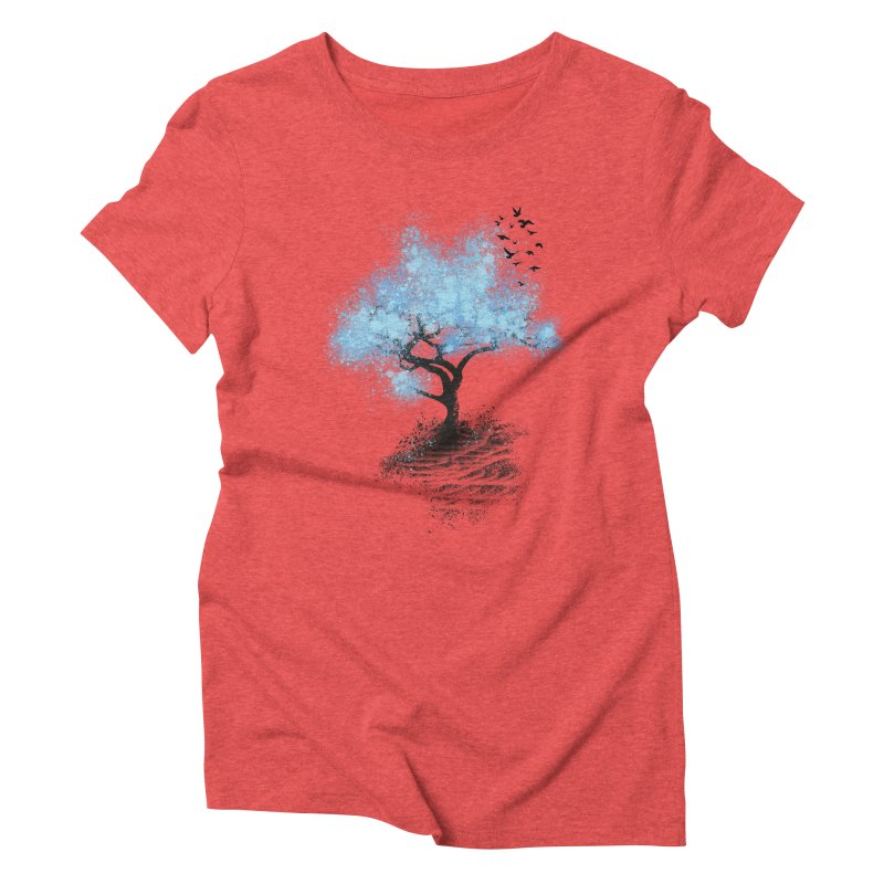 leaving home Women's Triblend T-Shirt by alnavasord's Artist Shop