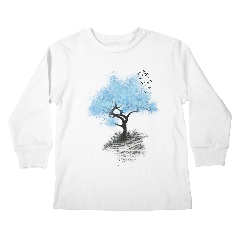 leaving home Kids Longsleeve T-Shirt by alnavasord's Artist Shop