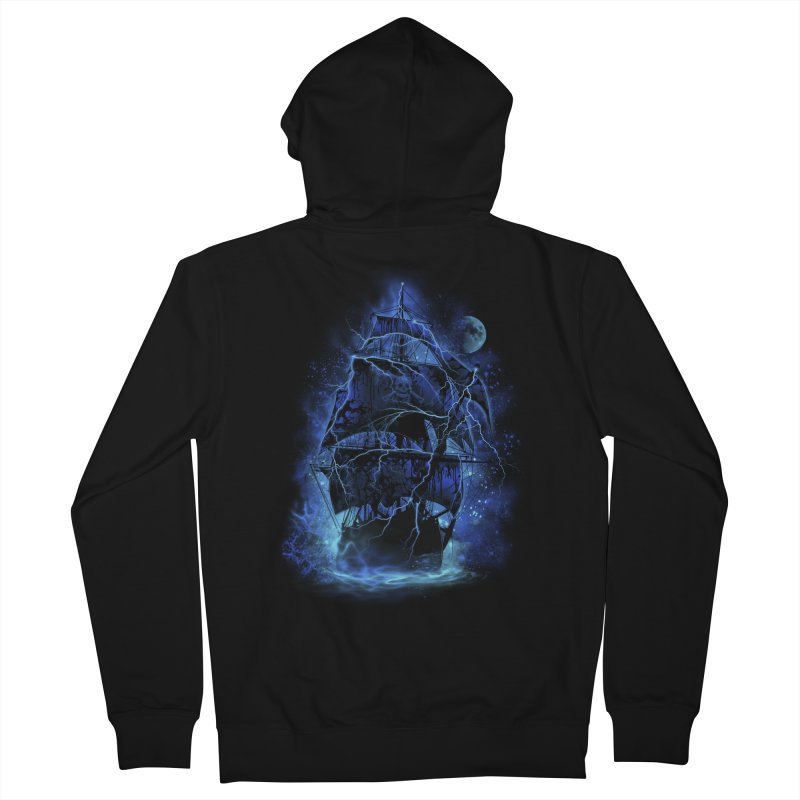 Pirate Storm Men's Zip-Up Hoody by alnavasord's Artist Shop