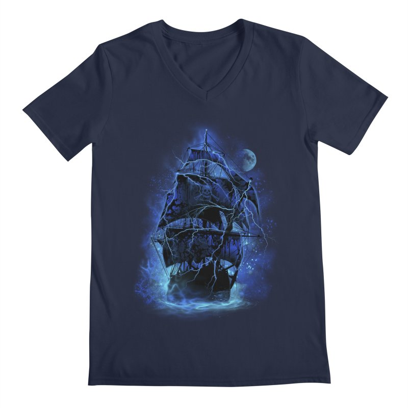 Pirate Storm Men's V-Neck by alnavasord's Artist Shop