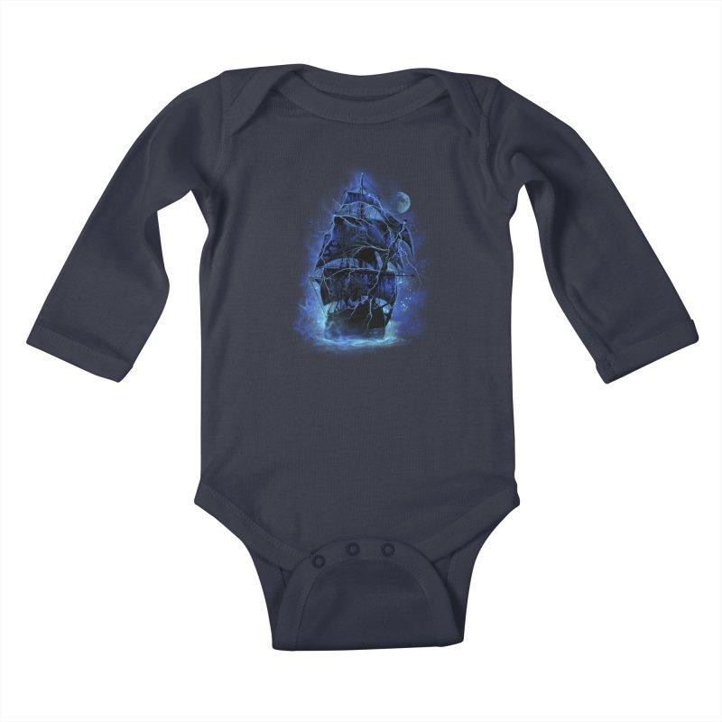 Pirate Storm Kids Baby Longsleeve Bodysuit by alnavasord's Artist Shop