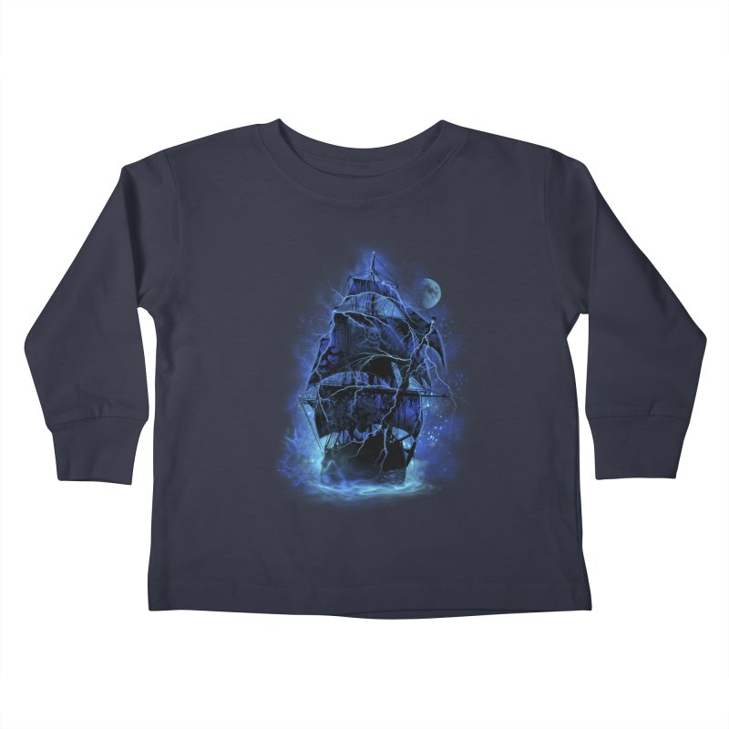 Pirate Storm Kids Toddler Longsleeve T-Shirt by alnavasord's Artist Shop