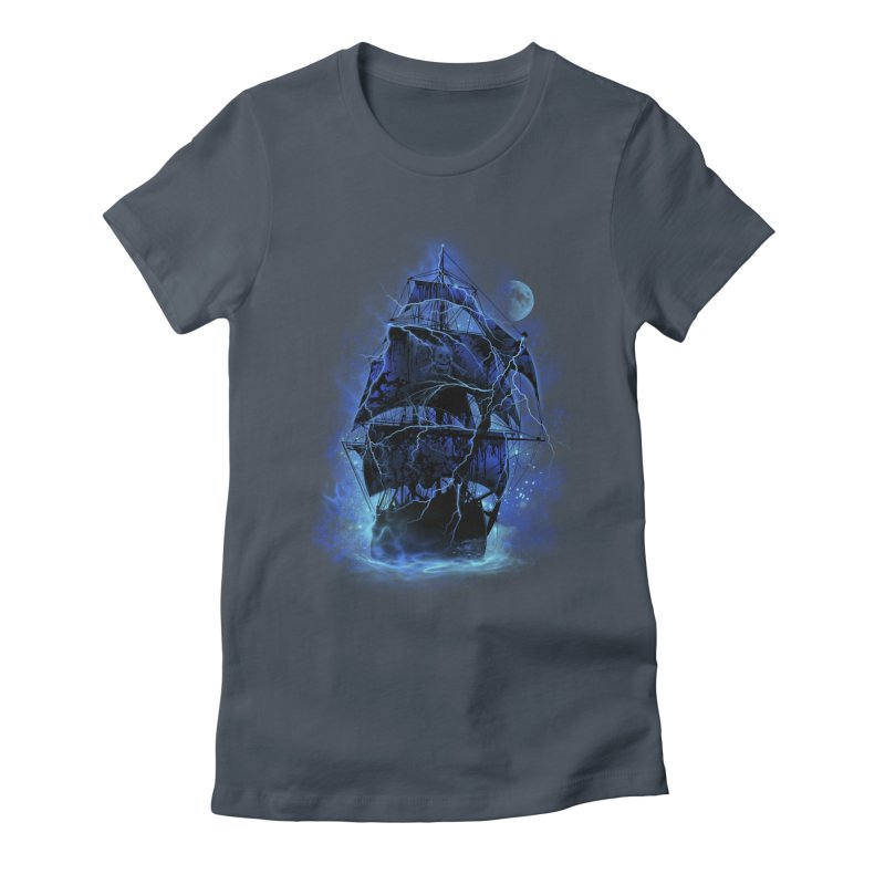 Pirate Storm Women's Fitted T-Shirt by alnavasord's Artist Shop