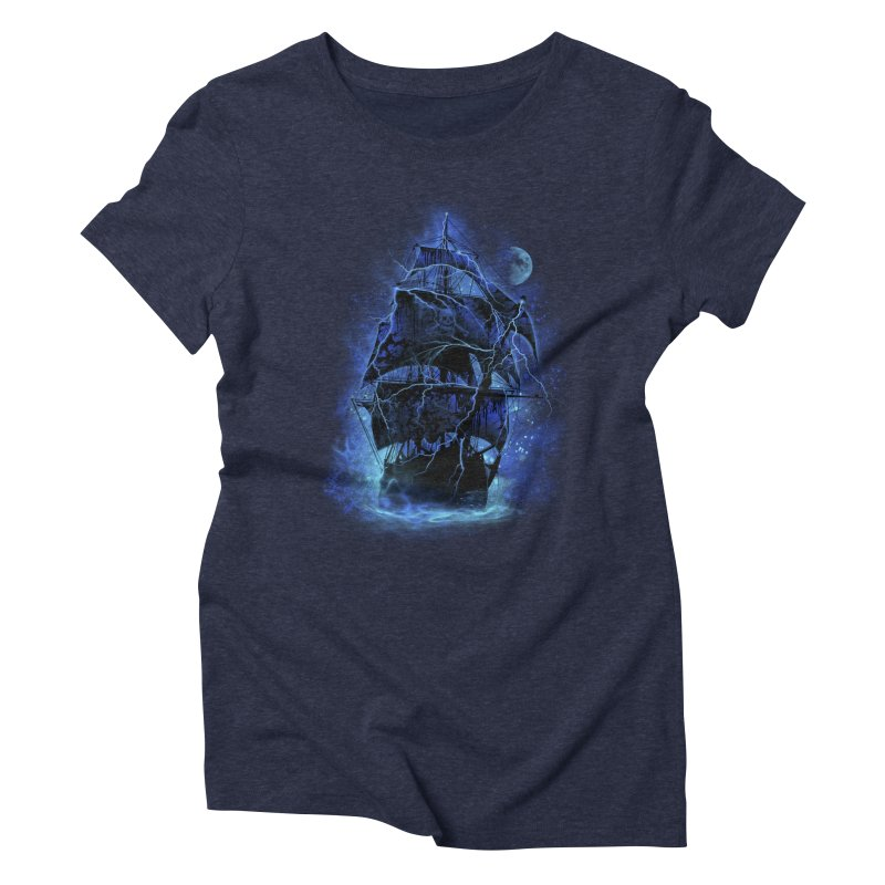 Pirate Storm Women's Triblend T-Shirt by alnavasord's Artist Shop