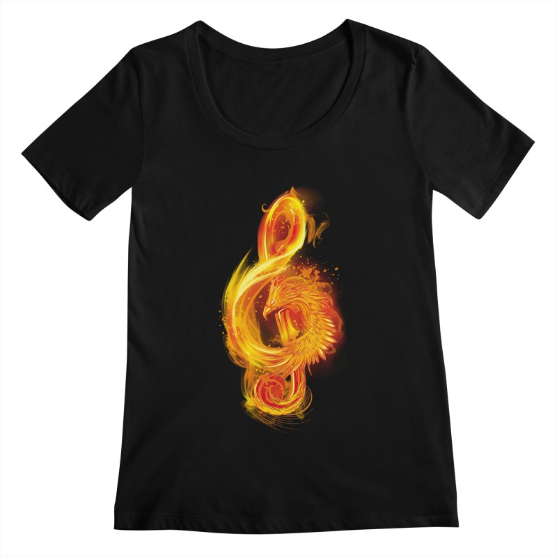 Music Reborn Women's Scoopneck by alnavasord's Artist Shop
