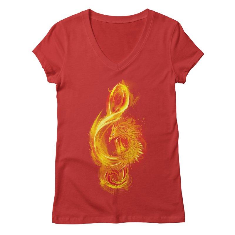 Music Reborn Women's V-Neck by alnavasord's Artist Shop