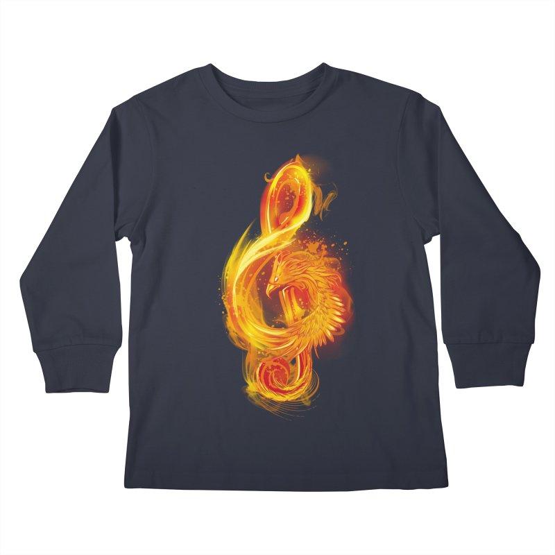 Music Reborn Kids Longsleeve T-Shirt by alnavasord's Artist Shop
