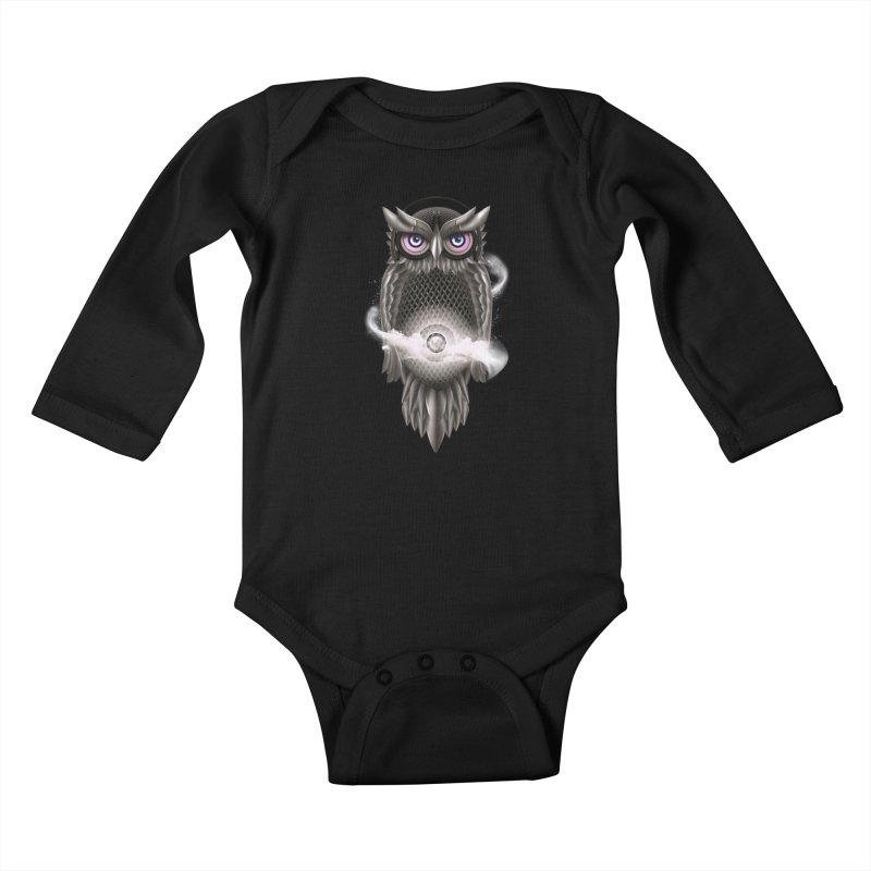 Chimera Night Kids Baby Longsleeve Bodysuit by alnavasord's Artist Shop