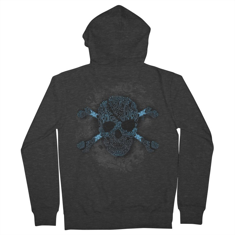 cyber Pirate Women's Zip-Up Hoody by alnavasord's Artist Shop