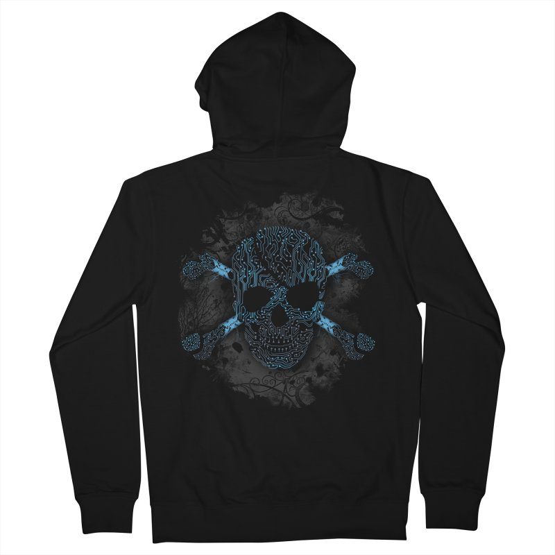 cyber Pirate Men's Zip-Up Hoody by alnavasord's Artist Shop