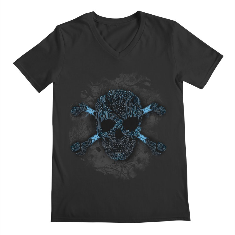 cyber Pirate Men's V-Neck by alnavasord's Artist Shop