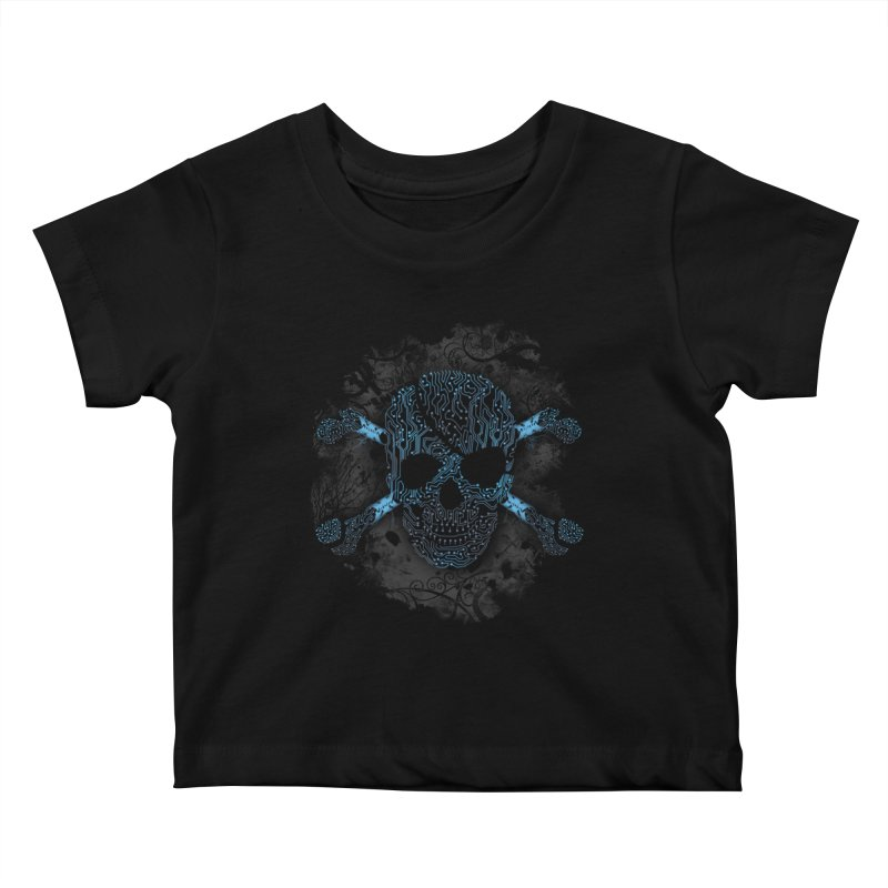 cyber Pirate Kids Baby T-Shirt by alnavasord's Artist Shop