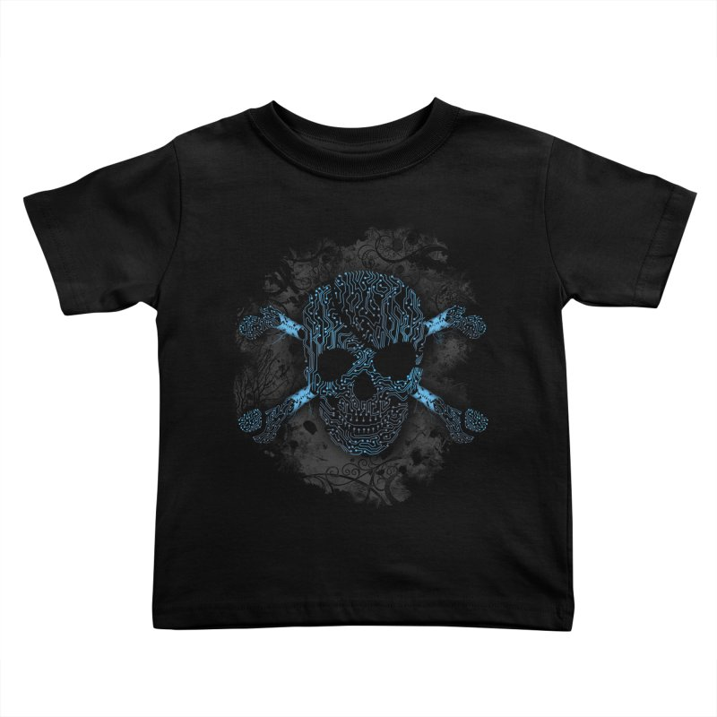 cyber Pirate Kids Toddler T-Shirt by alnavasord's Artist Shop