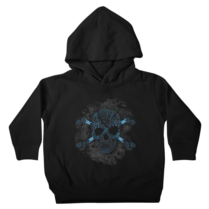 cyber Pirate Kids Toddler Pullover Hoody by alnavasord's Artist Shop