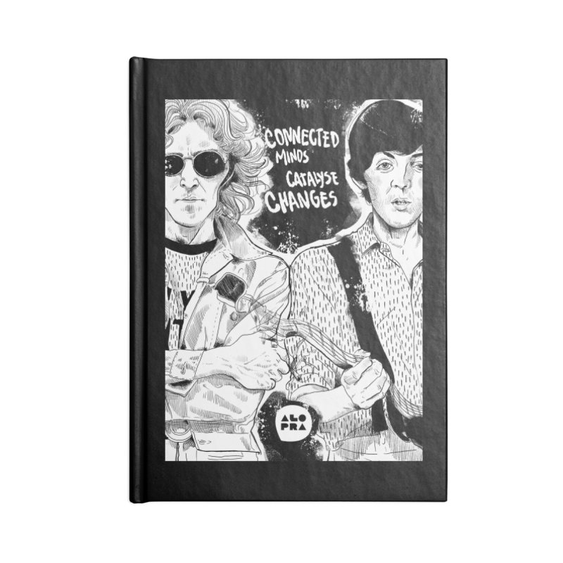 Alopra`s John and Paul | Connected Minds Catalyse Changes Accessories Blank Journal Notebook by Alopra's Shop