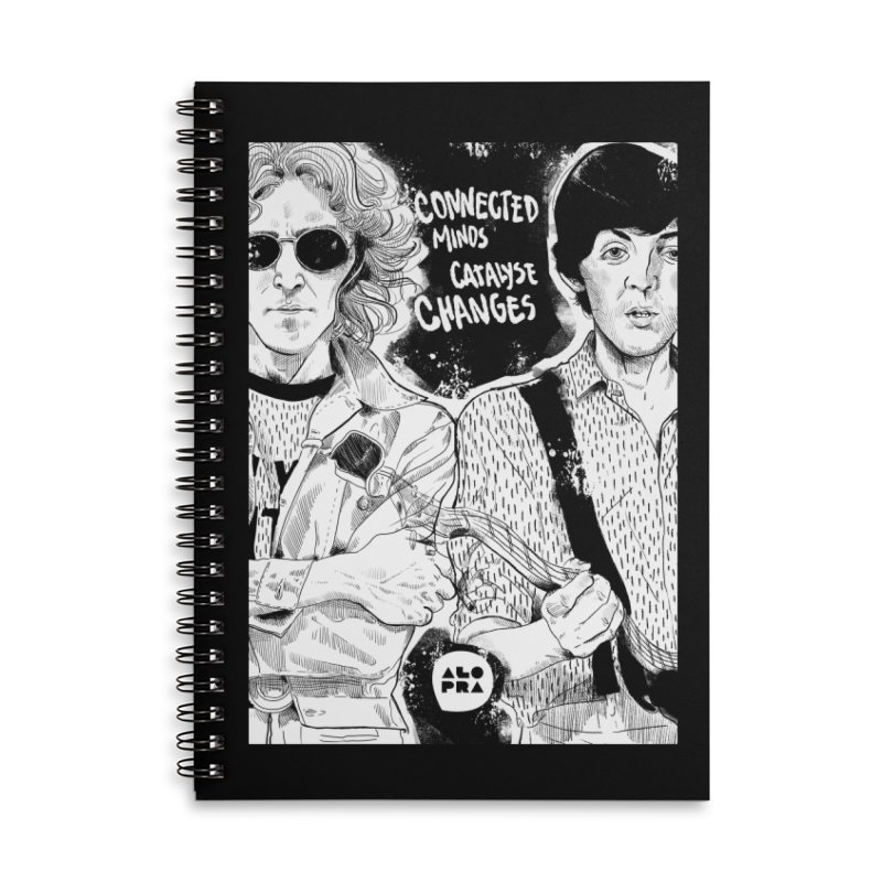 Alopra`s John and Paul | Connected Minds Catalyse Changes Accessories Lined Spiral Notebook by Alopra's Shop
