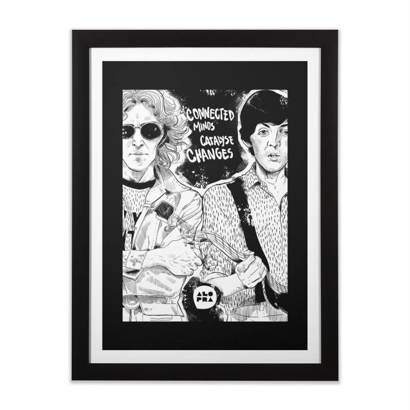 Alopra`s John and Paul | Connected Minds Catalyse Changes Home Framed Fine Art Print by Alopra's Shop