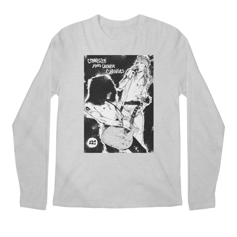 Alopra`s Axl and Slash   Connected Minds Catalyse Changes Men's Longsleeve T-Shirt by Alopra's Shop