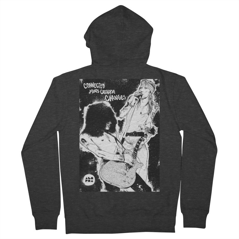 Alopra`s Axl and Slash   Connected Minds Catalyse Changes Women's French Terry Zip-Up Hoody by Alopra's Shop