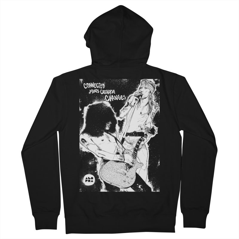 Alopra`s Axl and Slash | Connected Minds Catalyse Changes Women's French Terry Zip-Up Hoody by Alopra's Shop
