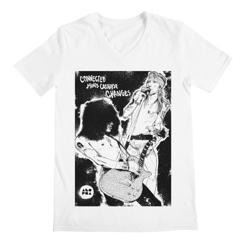 Alopra`s Axl and Slash | Connected Minds Catalyse Changes Men's V-Neck by Alopra's Shop