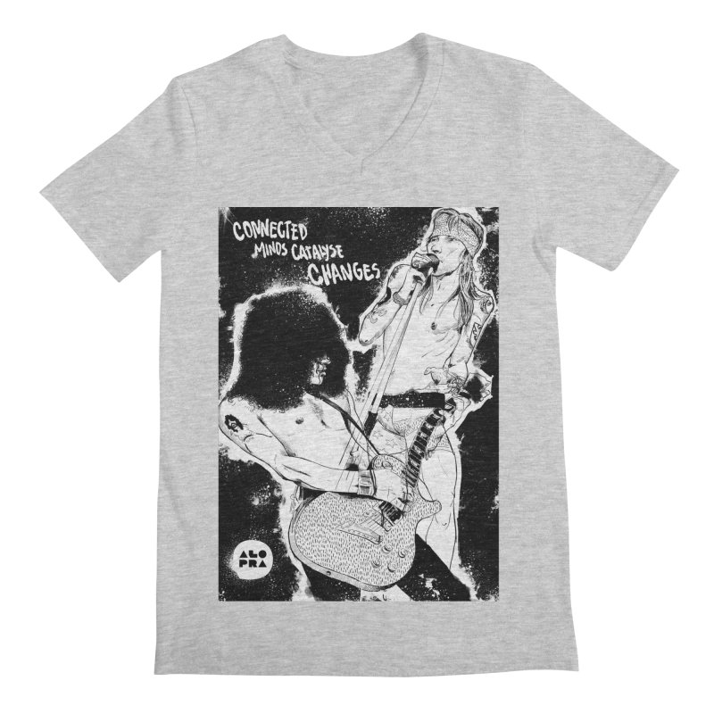 Alopra`s Axl and Slash | Connected Minds Catalyse Changes Men's Regular V-Neck by Alopra's Shop