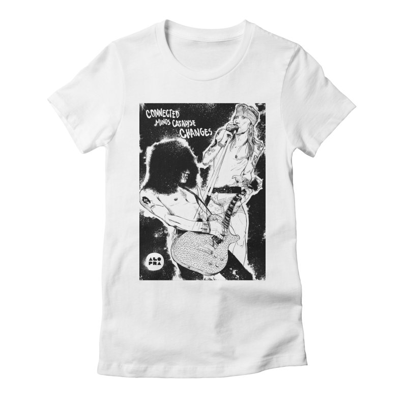 Alopra`s Axl and Slash | Connected Minds Catalyse Changes Women's Fitted T-Shirt by Alopra's Shop