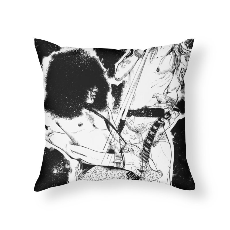 Alopra`s Axl and Slash | Connected Minds Catalyse Changes Home Throw Pillow by Alopra's Shop