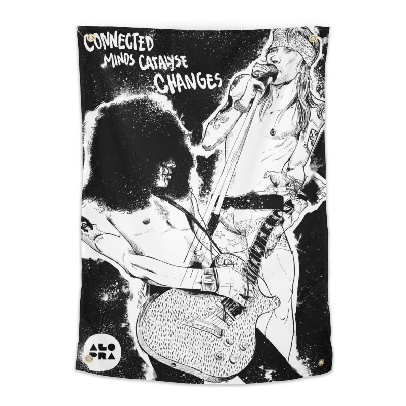 Alopra`s Axl and Slash | Connected Minds Catalyse Changes Home Tapestry by Alopra's Shop