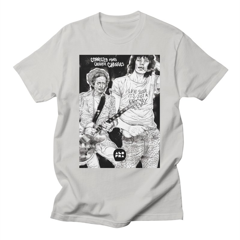 Alopra Studio`s Jagger and Richards   Connected Minds Catalyse Changes Men's T-Shirt by Alopra's Shop