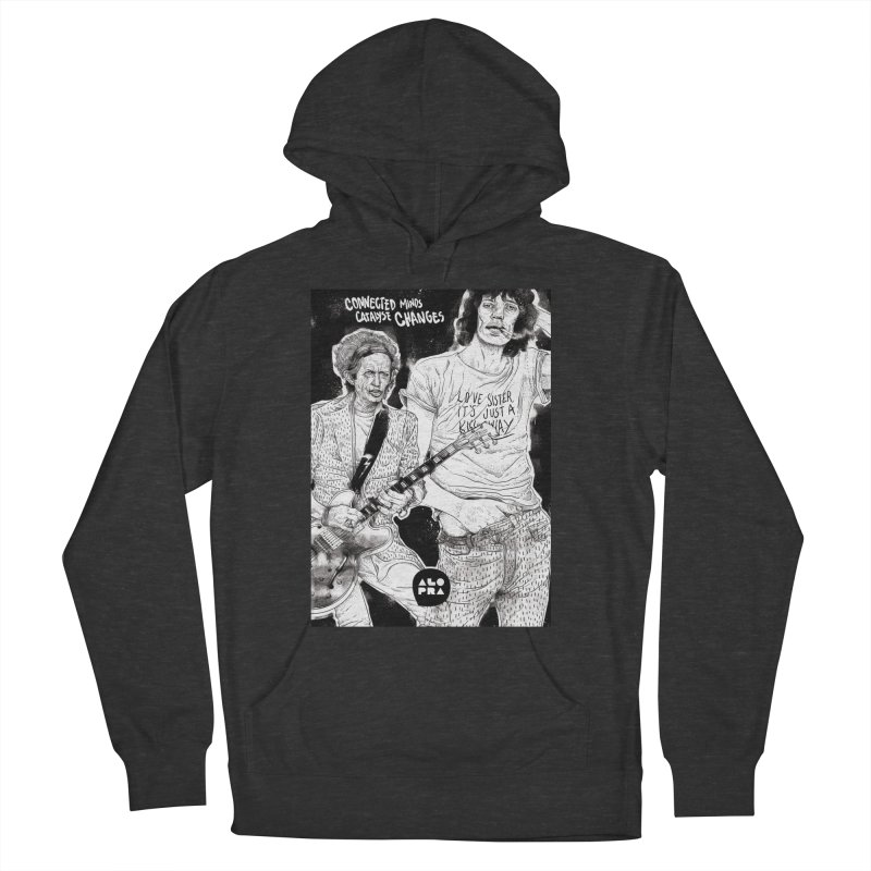 Alopra Studio`s Jagger and Richards | Connected Minds Catalyse Changes Men's Pullover Hoody by Alopra's Shop