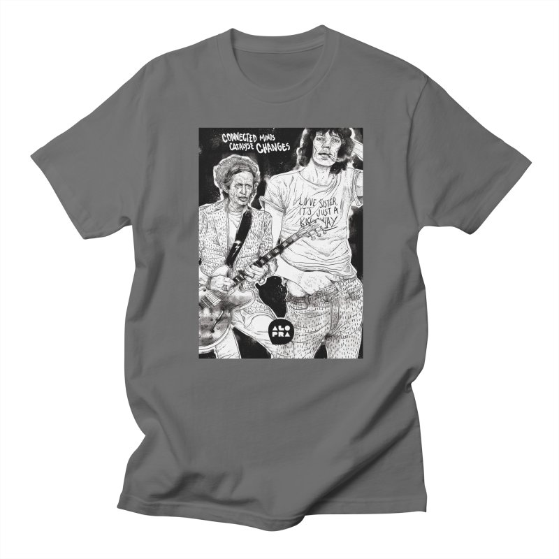 Alopra Studio`s Jagger and Richards | Connected Minds Catalyse Changes Men's T-Shirt by Alopra's Shop