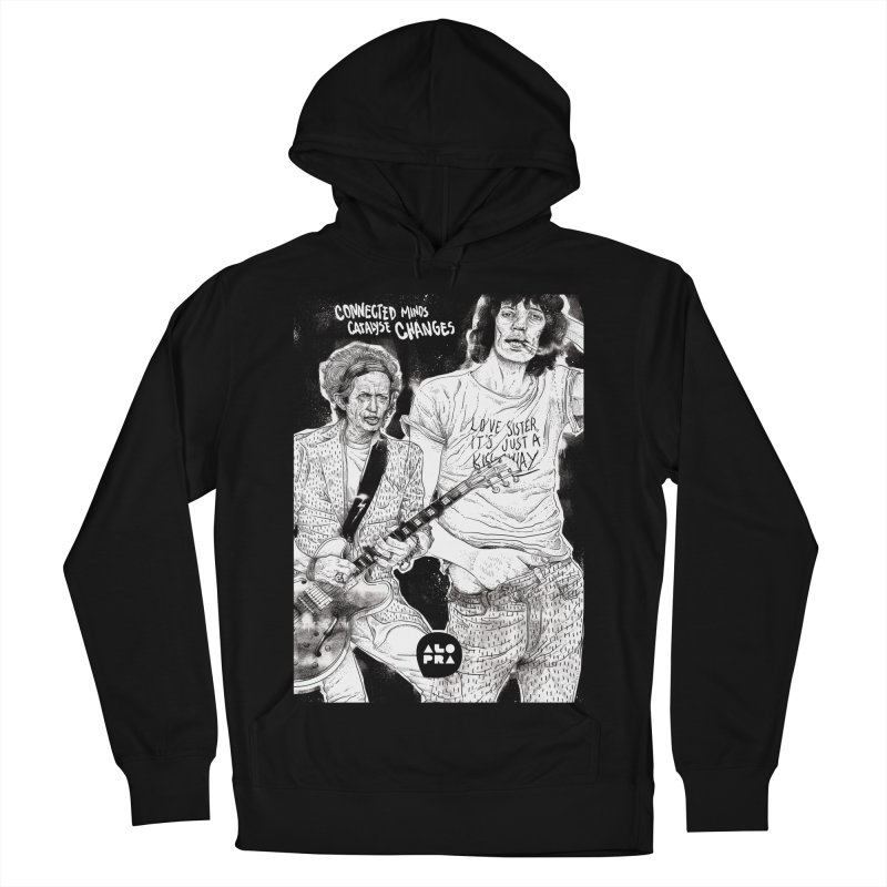 Alopra Studio`s Jagger and Richards | Connected Minds Catalyse Changes Women's Pullover Hoody by Alopra's Shop