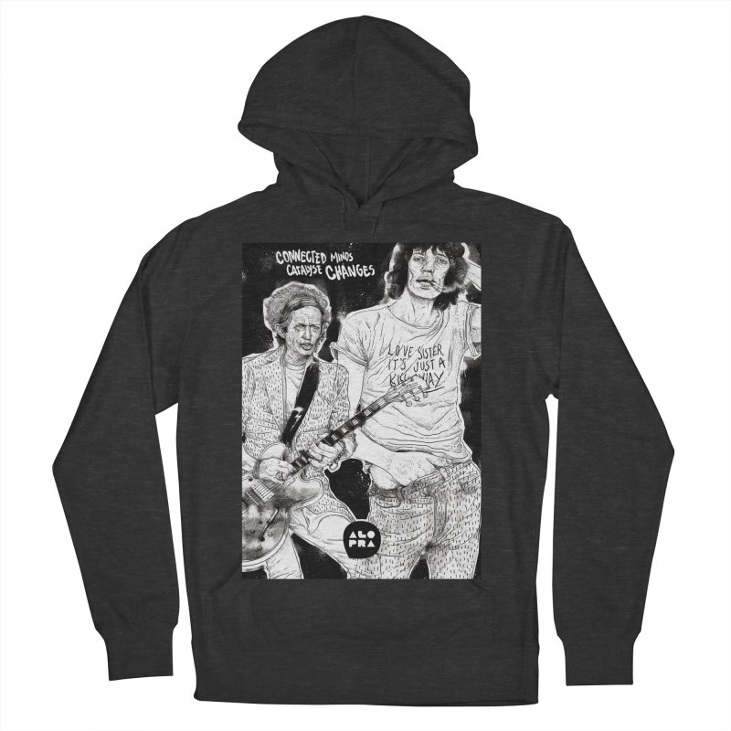 Alopra Studio`s Jagger and Richards | Connected Minds Catalyse Changes Men's French Terry Pullover Hoody by Alopra's Shop