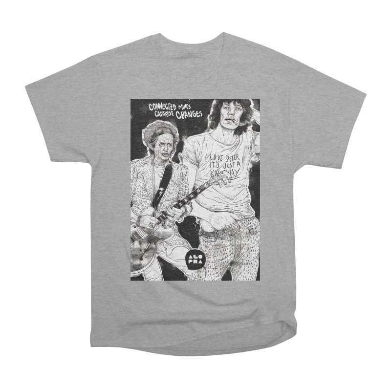 Alopra Studio`s Jagger and Richards | Connected Minds Catalyse Changes Men's Heavyweight T-Shirt by Alopra's Shop