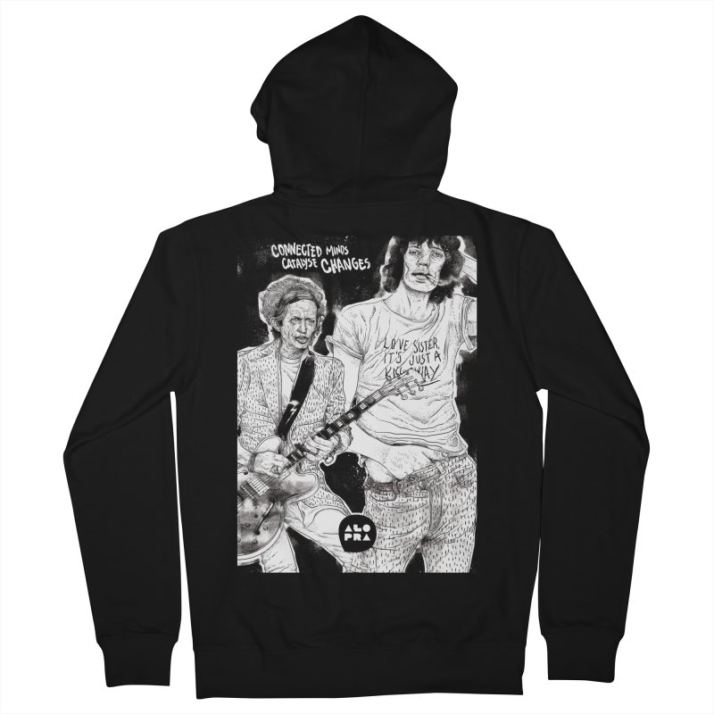 Alopra Studio`s Jagger and Richards | Connected Minds Catalyse Changes Men's Zip-Up Hoody by Alopra's Shop