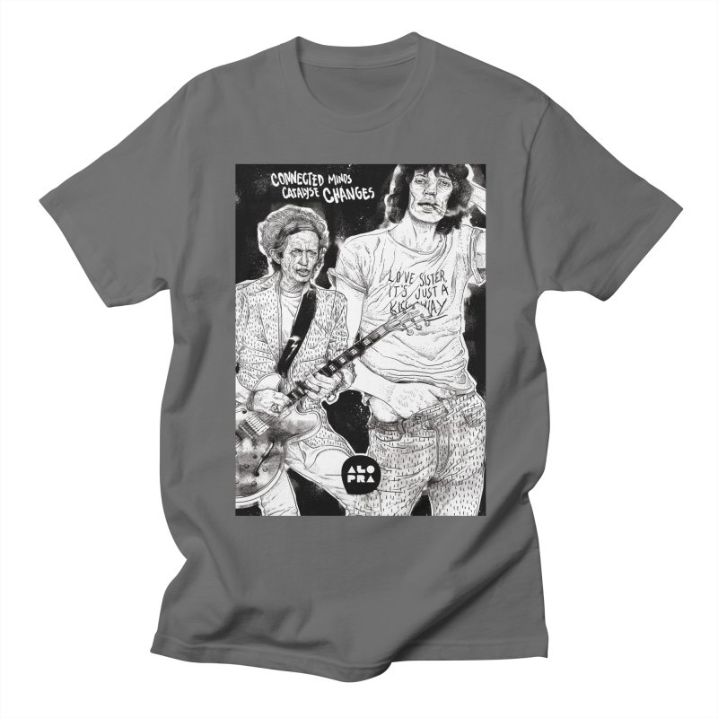 Alopra Studio`s Jagger and Richards | Connected Minds Catalyse Changes Women's T-Shirt by Alopra's Shop