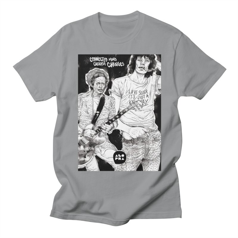 Alopra Studio`s Jagger and Richards | Connected Minds Catalyse Changes Men's Regular T-Shirt by Alopra's Shop