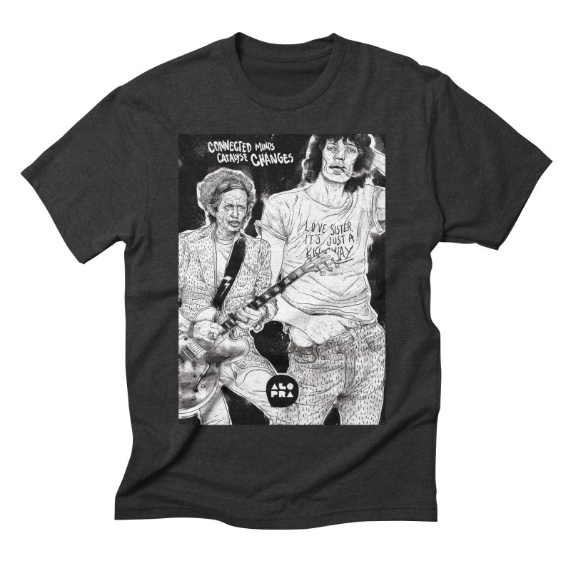 Alopra Studio`s Jagger and Richards | Connected Minds Catalyse Changes Men's Triblend T-Shirt by Alopra's Shop