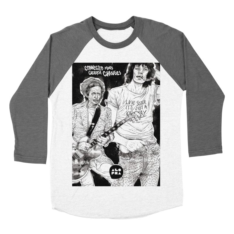 Alopra Studio`s Jagger and Richards | Connected Minds Catalyse Changes Women's Baseball Triblend T-Shirt by Alopra's Shop